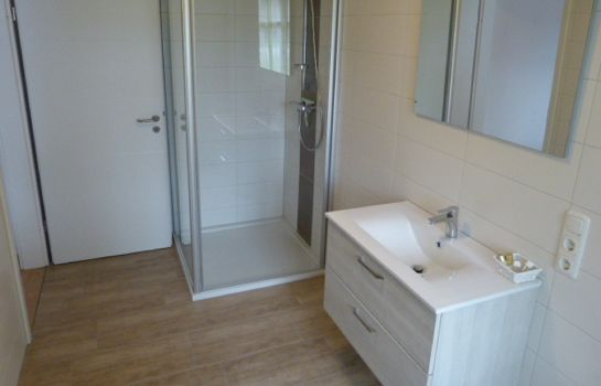 Bagno in camera Pension Zur Eiche