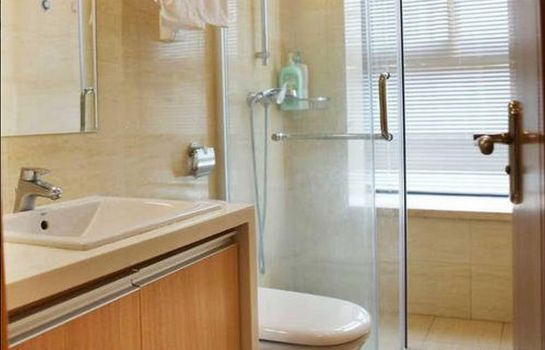 Bagno in camera Jiazai Lvtu Service Apartment