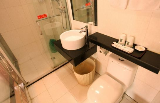 Cuarto de baño GreenTree Alliance South Railway Station Software Avenue No.1 Hotel (Domestic only)