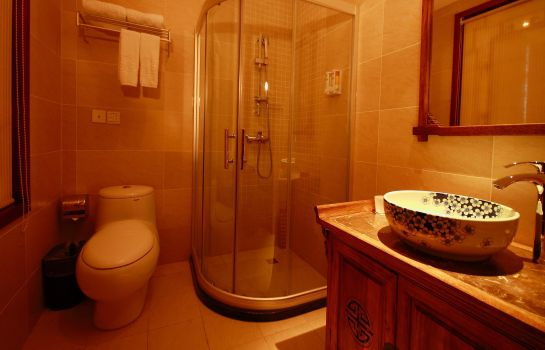 Bagno in camera Yijia City Hotel DuJiangYan Branch