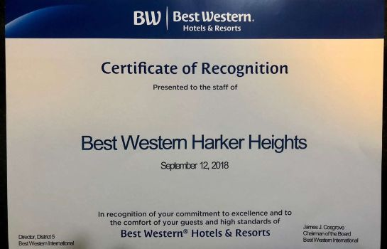 info Best Western Harker Heights