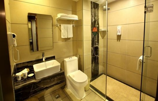 Badkamer GreenTree Inn YaLongWan YingBin Avenue (Domestic only)