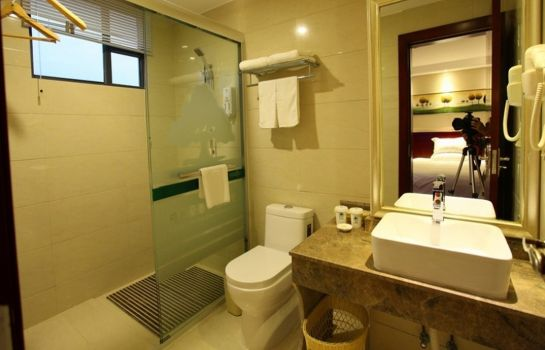 Badezimmer GreenTree Inn Jiangnan Wanda Plaza Tinghong Road Express Hotel(Domestic only)