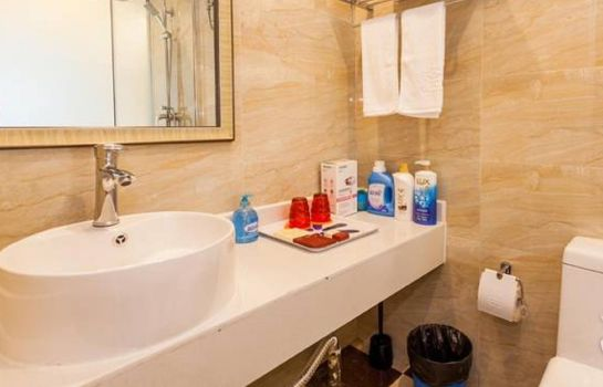 Bagno in camera Tule Apartment Chengdu Global Center Branch China Residence Only