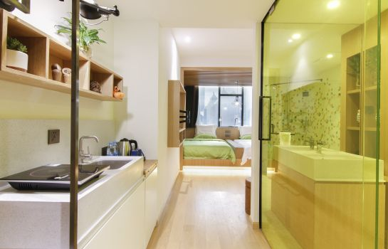 Double room (standard) Sweetome Boutique Apartment Shanghai East Nanjing Road
