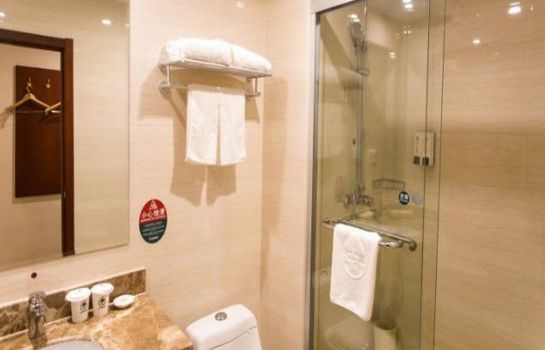 Cuarto de baño GreenTree Inn SuZhou Railway Station HuQiu Express Hotel (Domestic only)