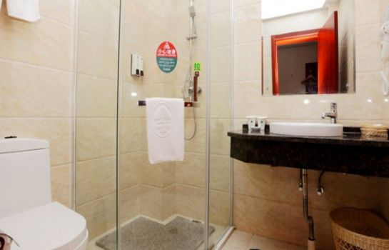 Bagno in camera GreenTree Inn LiShui County QinHuai Avenue QingNian Road Business Hotel