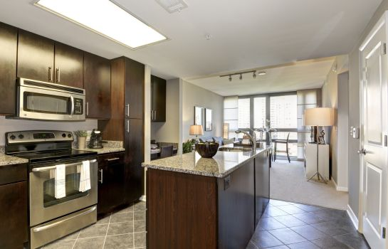 Kitchen in room Bridgestreet at Millennium at Metropolitan Park