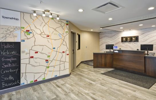 Lobby TownePlace Suites Cranbury South Brunswick