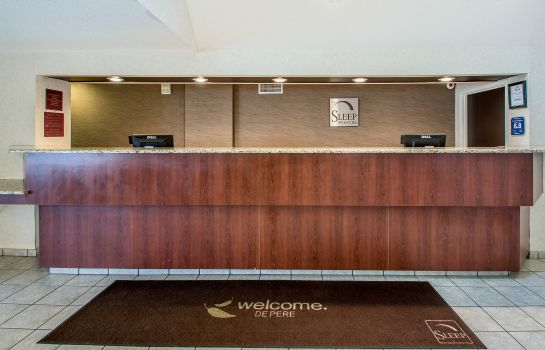 Vestíbulo del hotel Sleep Inn & Suites Green Bay Airport