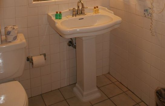 Bagno in camera French Quarter Suites Hotel