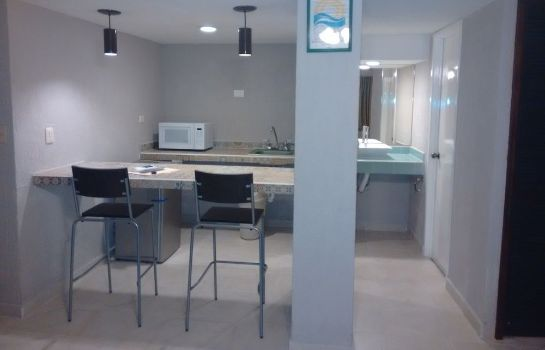 Kitchen in room Hotel Caribe Internacional