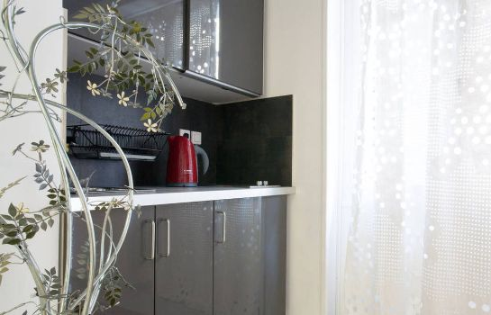 Kitchen in room Athens Green Apartments
