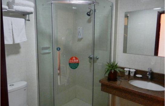 Bagno in camera Green Tree Inn Jiangdu Longcheng Domestic only
