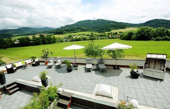 Terrasse Wellness am Rain Pension Garni