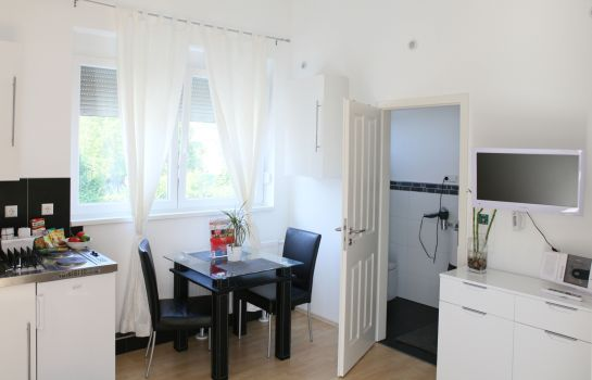 Küche im Zimmer Villaci Full Service Boardinghouse Apartments