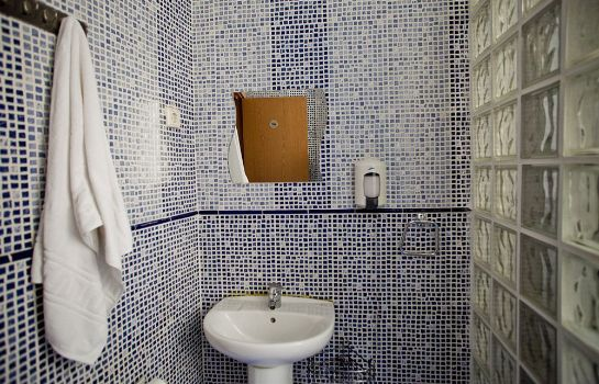 Bagno in camera Hostal Abaaly