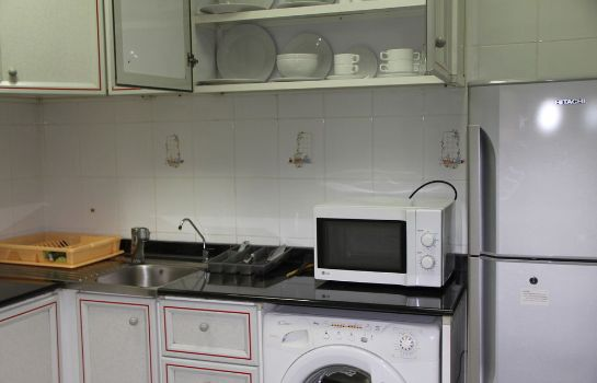 Keuken in de kamer Down Town Plaza Hotel Apartments