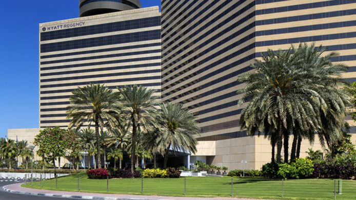Exterior view Hyatt Regency Dubai and Galleria