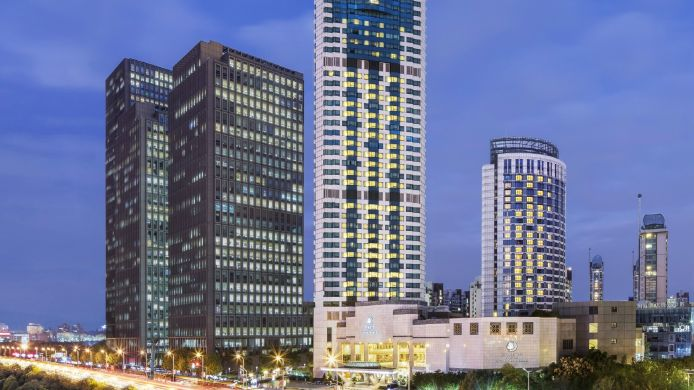 Buitenaanzicht DoubleTree by Hilton Hotel Shanghai - Pudong