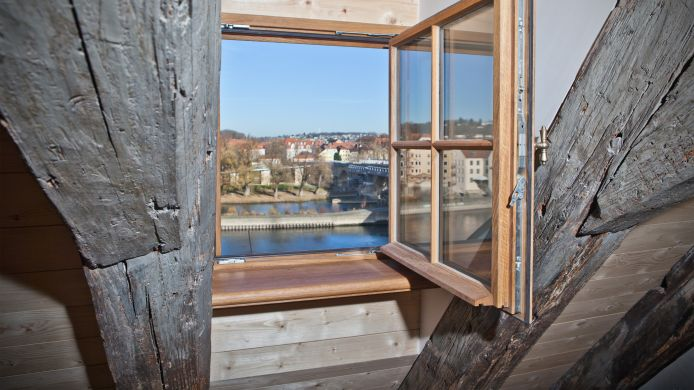 Room with a view of the river Hotel David an der Donau