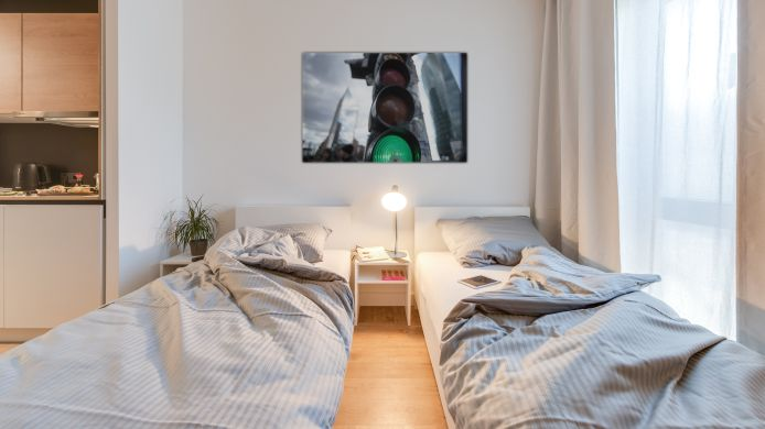 Chambre double (standard) SMARTments business Wien-Hauptbahnhof
