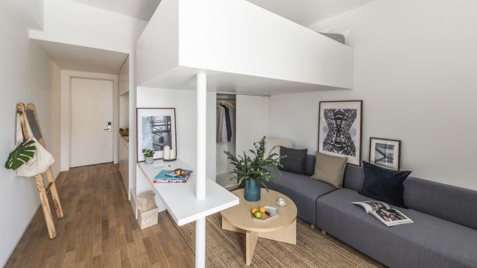 Eenpersoonskamer (standaard) base-WENDING Serviced Apartment