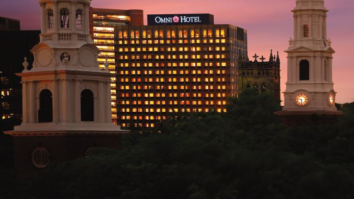 Exterior view Omni New Haven Hotel